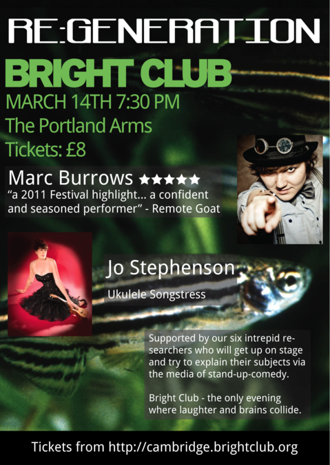 Cambridge Bright Club Regeneration flyer